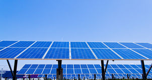 Alternative Solar Energy. Solar power plant. royalty free stock images