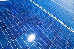 Alternative Sonnenenergie. Sonnenkraftwerk. stockfoto