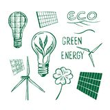 Ecological energy sketch Stock Images