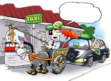Alternative taxi driver Royalty Free Stock Images