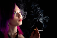 Alternative Teenager Smoking a Cigarette Stock Photos