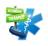 Alternative therapies medical symbol Stock Photos