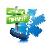 Alternative therapies medical symbol Stock Photos