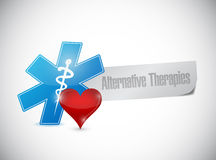 Alternative therapies sign message Stock Photo