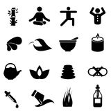 Alternative therapy medicine icons Royalty Free Stock Photo