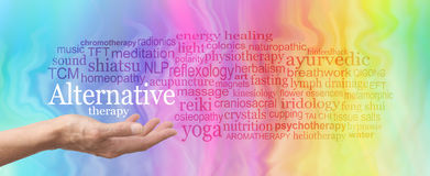 Alternative Therapy Word Cloud Stock Image