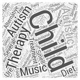 Alternative Treatments for Autism word cloud concept vector background. Text Royalty Free Stock Photos