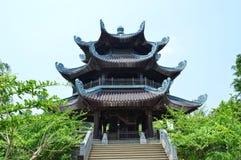 Vietnam - North - Bai Dinh Pagoda bell tower. Alternative view of Bell tower at Bái Đính Temple Vietnamese: Chùa Bái Đính or Bái Đính Temple Spiritual Stock Photo