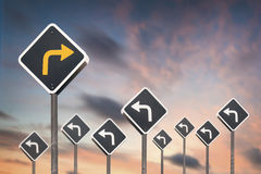 Alternative way concept. By traffic sign Royalty Free Stock Photo