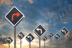 Alternative way concept by traffic sign Royalty Free Stock Photos