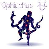 Alternative Zodiac sign Ophiuchus stencil Stock Photo