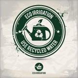 Alternativer eco Bewässerungsstempel Stock Abbildung
