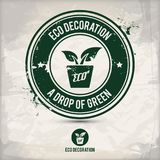 Alternativer eco Dekorationsstempel Lizenzfreie Abbildung