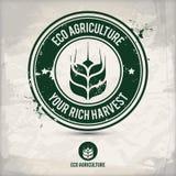 Alternativer eco Landwirtschaftsstempel Lizenzfreie Abbildung