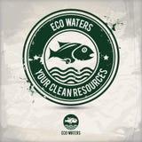 Alternativer eco Wasserstempel Stock Abbildung
