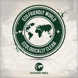 Alternativer eco Weltstempel Stockbild
