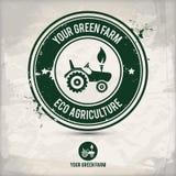Alternativer grüner Bauernhofstempel Lizenzfreie Abbildung