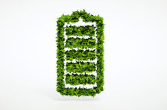 Alternatives Ökologiebatteriekonzept Stockfoto