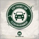Alternatives eco freundlicher Autostempel Lizenzfreie Abbildung