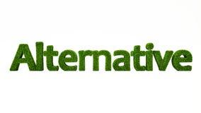 ALTERNATIVT ord för tolkning som 3D göras av grönt gräs vektor illustrationer