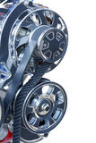 Alternator and Belt on a high performance engine Royalty Free Stock Photo
