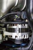 Alternator in Car engine Royalty Free Stock Image