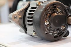An alternator for engine. An alternator in engine to generate electric royalty free stock photos