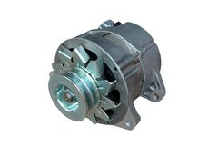 Alternator. Image of car alternator. Isolated on white. Clipping path included stock photos