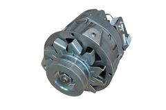 Alternator. Image of car alternator. Isolated on white. Clipping path included royalty free stock photo