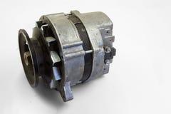 Alternator. Image of car alternator isolated on white.  royalty free stock photos