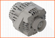 Alternator isometric perspective view flat. Vector 3d illustration Royalty Free Stock Photography