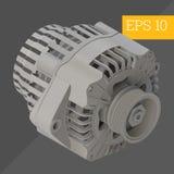 Alternator isometric vector illustration Stock Photos