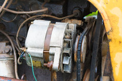 An Alternator on an tractor Royalty Free Stock Image