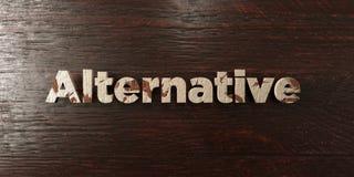 Alternatywa - grungy drewniany nagłówek na klonie - 3D odpłacający się królewskość bezpłatny akcyjny wizerunek ilustracji