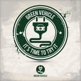 Alternatywa pojazdu zielony znaczek ilustracja wektor