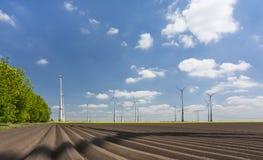 alternatywne źródła energii, turbiny farmy wiatr Zdjęcie Stock