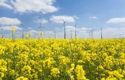 alternatywne źródła energii, turbiny farmy wiatr Zdjęcie Royalty Free
