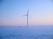 alternatywnej energii młynów śniegu wiatr Obrazy Stock