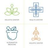 Alternatywnej medycyny logowie Fotografia Stock
