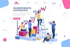 Alternatywny postęp, buduje reklamę, zarządzanie inwestycyjne dla firmy ilustracja wektor