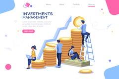 Alternatywny postęp, buduje reklamę, zarządzanie inwestycyjne dla firmy royalty ilustracja