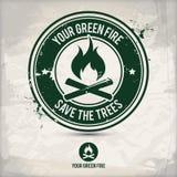 Alternatywy zieleni ogienia znaczek ilustracji