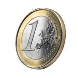 Alternde Euromünze Stockfoto