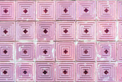 Alternde rosa portugiesische Fliesen Lizenzfreies Stockbild