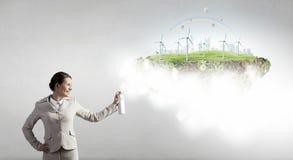 Alternitive-Energiekonzept Lizenzfreie Stockfotografie