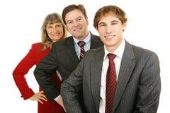 Alters-Verschiedenartigkeit im Geschäft lizenzfreies stockbild