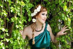 Altertum. Portrait des attraktiven schönen Mädchens. lizenzfreies stockbild