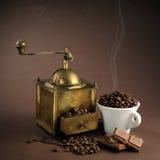 Altertumskaffeemaschine Stockfoto