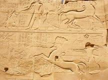 Altes ägyptisches Flachrelief Stockfotografie