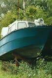 Altes abandonned Boot. stockfotografie